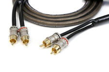 KnuKonceptz Krystal Twisted Pair 2 Channel Smoke RCA Cable 20ft 6M OFC