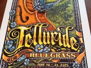 AJ Masthay Telluride Bluegrass Poster 2015 Mint signed 50 copies Panic Phish