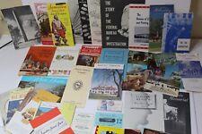 Vintage Washington Dc/Va Paper Souvenir Items - Brochures Booklets Postcards