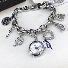 Anne Klein Watch * 7605CHRM Silver Tone Swarovski Charm COD PayPal Ivanandsophia