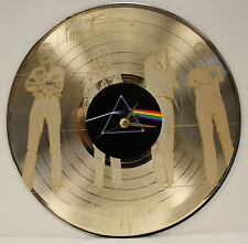 PINK FLOYD LASER ETCHED GOLD PLATED LP RECORD WALL CLOCK FREE SHIPPING