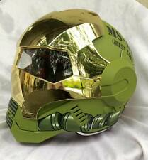 Masei 610 Green Gold Chrome Zaku Motorcycle Bike Army Gundam NHRA Chopper Helmet