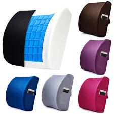 Memory Foam Lumbar Support Cooling Gel Back Cushion 3D Mesh Cover Seat Pillow