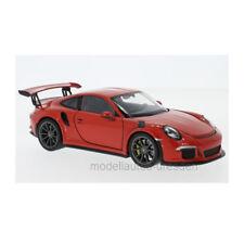 Welly 24080 Porsche 911 (991) GT3 Rs Rojo Escala 1:24 Coche a Escala Nuevo !°