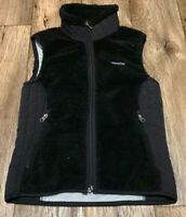 Patagonia Synchilla Deep Pile Retro Vest Womens Small Black GUC