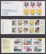 Sweden Sc 2224a, 2231a, 2253a, 2255a, 2258a MNH. 1997 issues, 5 Intact Booklets