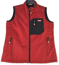 Coleman Red Vest Sleeveless Mens Zip Up Size 90 Small Outdoor
