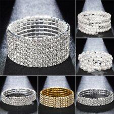 Chic Rhinestone Crystal Stretch Bracelet Bangle Wristband Wedding Bridal Party