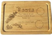 Children's Christmas Eve Personalised Santa's Snack and drink Wooden Snack Board