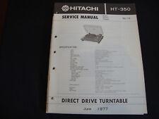 Original Service Manual Hitachi HT-350