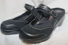 Rialto Mystical Clogs Mary Janes Women's Size 8M Black Leather/Suede
