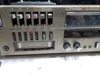 Vintage Emerson Turn Table AM/FM Stereo Receiver 8 Track Cassette Recorder Base