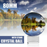 Clear Crystal Ball 50/80MM Photography Glass Lens Sphere Ball Photo