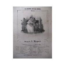 Marquerie A. La Anillo De mi Madre Piano Canto ca1830 Partitura Hoja Música