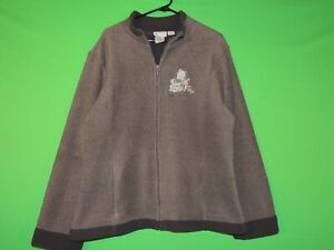 Winnie The Pooh Walt Disney World Womens Size XL Extra Large Full Zip Sweater