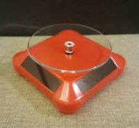 Solar Showcase 360 Turntable Rotating Display Stand for hotwheels / 1:64 Red