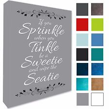 Bathroom Plaque Wall Art Picture if You Sprinkle Canvas Prints 17 Colours 258