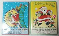 2 Sets of Mary Engelbreit Christmas Note Cards/Envelopes (6 each) Santa Claus