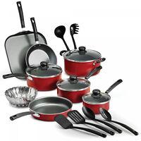 18 Piece Cookware Set Pots & Pans Kitchen Non Stick Cooking Pot Pan NEW