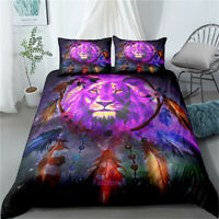 Lion Dreamcatcher Doona/Duvet/Quilt Cover Set Single/Double/Queen/King Size Bed