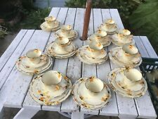 X43 Pieces CROWN DUCAL SUNBURST TEA SAUCER CAKE PLATE/S