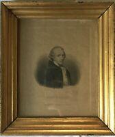 Biedermeier Bilderrahmen Berliner Leiste Joseph Haydn Druck innen 20,5 x 17 cm
