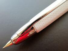 Pilot 18K VANISHING POINT Carbonesque KASURI Capless Fountain Pen, WHITE