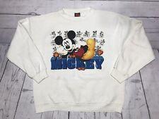 Vintage Mickey Mouse Crewneck Sweater Mens Large Medium 90s Jerry Leigh Disney