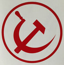Hammer and Sickle Sticker New Vinyl Decal Your Choice of Colour Buy 2 Get 1 Free