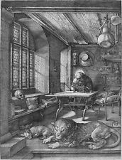 "Albrecht Durer: St Jerome in his Study Painting - 8""x10"" Canvas Fine Art Print"