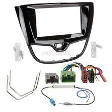 Opel Karl ab 15 2-DIN Autoradio Einbauset Adapter Kabel Radioblende hochglanz