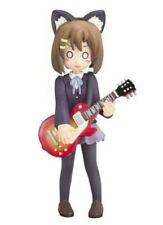 "NEW! K-ON! / YUI HIRASAWA NEKOMIMI SOLID PVC FIGURE 3.5"" 9cm/ CHARAANI / UK DSP"