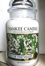 "Yankee Candle ""LILY OF THE VALLEY"" Floral Large 22 oz ~ WHITE LABEL ~ NEW!"