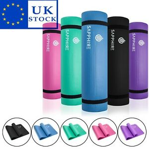 Yoga Mat 10mm Non Slip Thick Gym Exercise Fitness Pilates Workout Mat 183 x 61cm