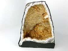 "38+ lbs., 13.39"" Citrine Geode Cathedral with Quartz, Calcite and Goethite"