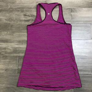 Lululemon Swiftly Tech Racerback Hyper Stripe Pink Size 4