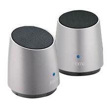 Bases altavoces de plata para reproductores MP3