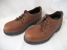 Men Wolverine Durashocks Brown Leather Derby Work Shoes Steel Toes US Sz 9 EW
