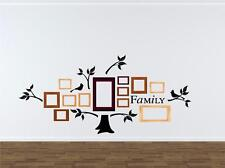 Family Tree Branches & Birds Vinyl Decal Wall Sticker Words Lettering Decor Art