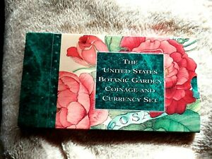 """1997 US BOTANIC GARDEN COINAGE AND CURRENCY SETS """"7 AVAILABLE"""" 25,000 MINTAGE"""