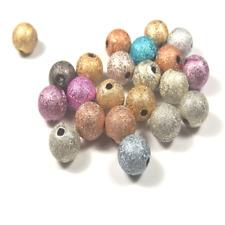 100 Perles Stardust Rondes 8mm Multicolores Scintillantes en Acrylique laqué
