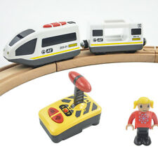 RC Electric Magnetic Train Carriage Sound Light Express Fit Thomas Wooden Track
