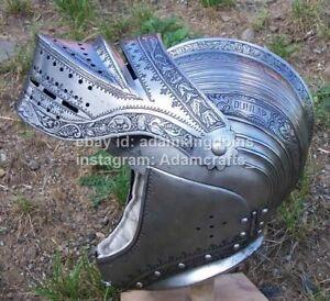 Medieval 2.5mm Steel Knight Battle Close Helmet Armor Helmet
