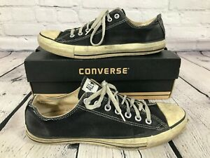 Vintage CONVERSE Chuck Taylor All Star Low Top BLACK Men's Size 10.5 Made in USA