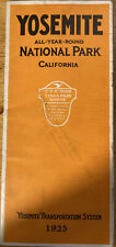 1925 Yosemite National Park Tour Book