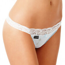 FIFTY SHADES OF GREY BLUE WITH LACE TRIM G-STRING SIZE 12