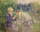 In The Bois De Boulogne Berthe Morisot Fine Art Print on Canvas Giclee Painting