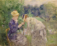 In The Bois De Boulogne Berthe Morisot Fine Art Print on Canvas Giclee Painting