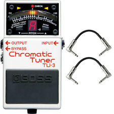 Boss TU-3 Chromatic Tuner Pedal Guitar Effects Stompbox Footswitch + Cables