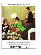 PUBLICITE   1967  REMY MARTIN cognac   Juliette GRECO